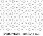 seamless vector pattern in... | Shutterstock .eps vector #1018641163