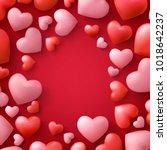 valentines day sale background... | Shutterstock .eps vector #1018642237