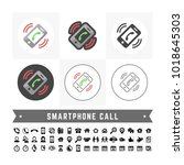 vector basic smartphone call... | Shutterstock .eps vector #1018645303