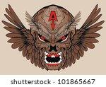 evil wing skull | Shutterstock .eps vector #101865667