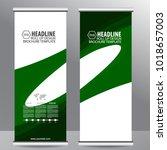 roll up business brochure flyer ...   Shutterstock .eps vector #1018657003