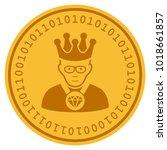 emperor golden digital coin... | Shutterstock .eps vector #1018661857