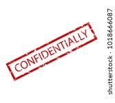confidentially rubber stamp.... | Shutterstock .eps vector #1018666087