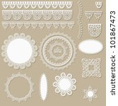 vector lacy scrapbook design... | Shutterstock .eps vector #101867473