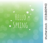 hello spring background with... | Shutterstock .eps vector #1018680943