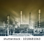 exterior structure of oil... | Shutterstock . vector #1018681063