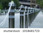 iron with a chain around the... | Shutterstock . vector #1018681723
