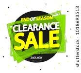 clearance sale  banner design... | Shutterstock .eps vector #1018693513