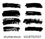 painted grunge stripes set.... | Shutterstock .eps vector #1018702537