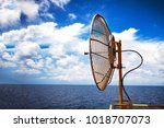 antenna of supervisory control... | Shutterstock . vector #1018707073