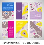 set of a4 cover  abstract... | Shutterstock .eps vector #1018709083