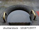 china bronze basin  ancient ... | Shutterstock . vector #1018715977