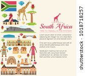 country south africa travel... | Shutterstock .eps vector #1018718257