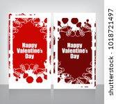valentine's day design | Shutterstock .eps vector #1018721497