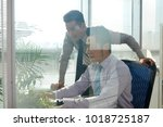 business people working in team ... | Shutterstock . vector #1018725187