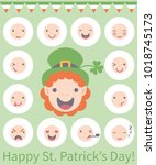 vector illustration  12 flat... | Shutterstock .eps vector #1018745173