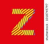 letter z  capital letter for... | Shutterstock .eps vector #1018745797