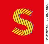 letter s  capital letter for... | Shutterstock .eps vector #1018745803