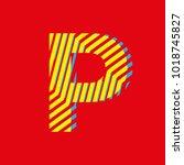 letter p  capital letter for... | Shutterstock .eps vector #1018745827