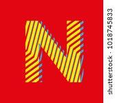 letter n  capital letter for... | Shutterstock .eps vector #1018745833