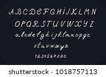 hand lettering alphabet design  ... | Shutterstock .eps vector #1018757113
