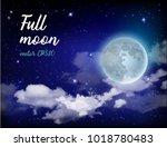 mystical sky full moon against... | Shutterstock .eps vector #1018780483