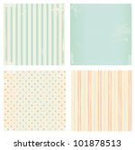 Collection of vector backgrounds in retro style - stock vector