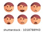 people faces vector designed in ... | Shutterstock .eps vector #1018788943