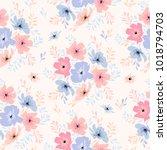 vector seamless floral pattern...   Shutterstock .eps vector #1018794703