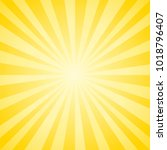 abstract soft yellow rays...   Shutterstock .eps vector #1018796407