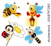 set of icon insects   vector... | Shutterstock .eps vector #1018797283