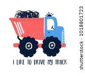 hand drawing truck illustration ...   Shutterstock .eps vector #1018801723