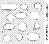 speech bubbles set | Shutterstock .eps vector #1018806823