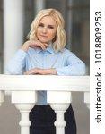 pretty stylish woman in...   Shutterstock . vector #1018809253