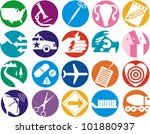 Group of icons - stock vector