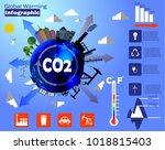 global warming infographic... | Shutterstock .eps vector #1018815403
