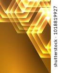 geometric background  golden... | Shutterstock .eps vector #1018819927