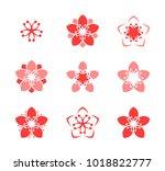 Cherry Blossom. Icon Set....