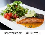 Smoked Trout With Vegetables...