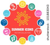 summer icons  vector... | Shutterstock .eps vector #101883043