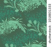 seamless floral pattern with... | Shutterstock .eps vector #1018831333