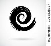 spiral swirl symbol hand... | Shutterstock .eps vector #1018838137