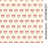 seamless heart pattern. hand...   Shutterstock .eps vector #1018838257