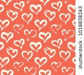 seamless heart pattern. hand...   Shutterstock .eps vector #1018838263
