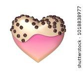 sweet candy heart 3d rendering...   Shutterstock . vector #1018838977