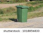 green plastic single mobile... | Shutterstock . vector #1018856833