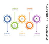 circle infographic template... | Shutterstock .eps vector #1018858447