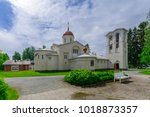 the main church of the new... | Shutterstock . vector #1018873357