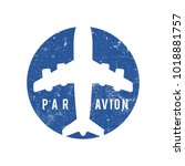 par avion stamp | Shutterstock .eps vector #1018881757