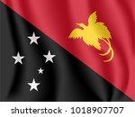 flag of papua new guinea.... | Shutterstock .eps vector #1018907707